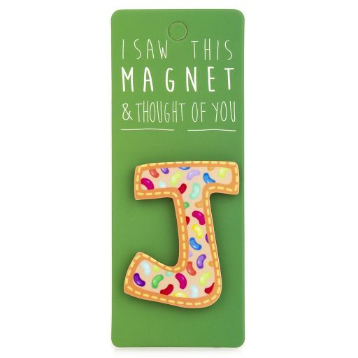 I saw this Magnet and .... - MA030 - Letter J