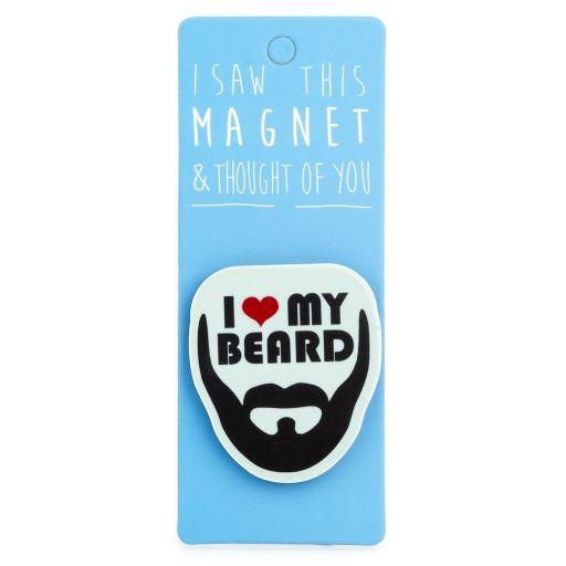 I saw this Magnet and .... - MA073 - I ♥ My Beard